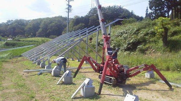 太陽光架台工事